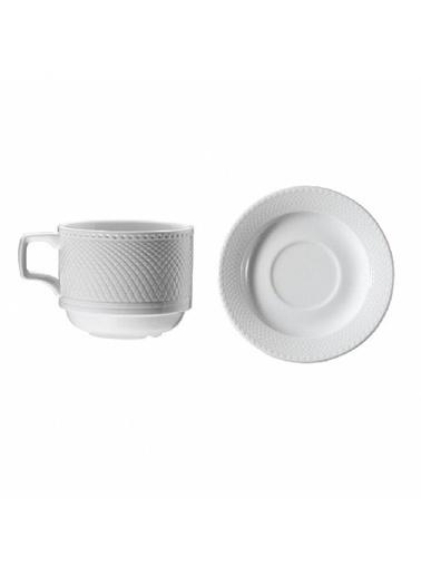 Kütahya Porselen Kütahya Porselen Kahve Fincanı Tabaklı 6'Lı Renkli